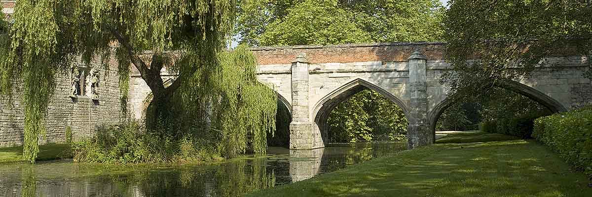 The north bridge across the moat, first built in stone by Richard II and rebuilt by Edward IV in the late 15th century