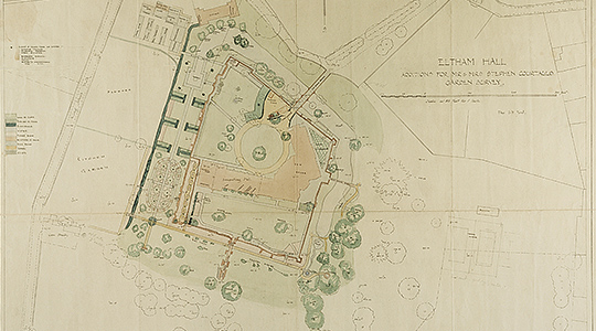 Part of Seely and Paget's scheme for the gardens at Eltham, 1934