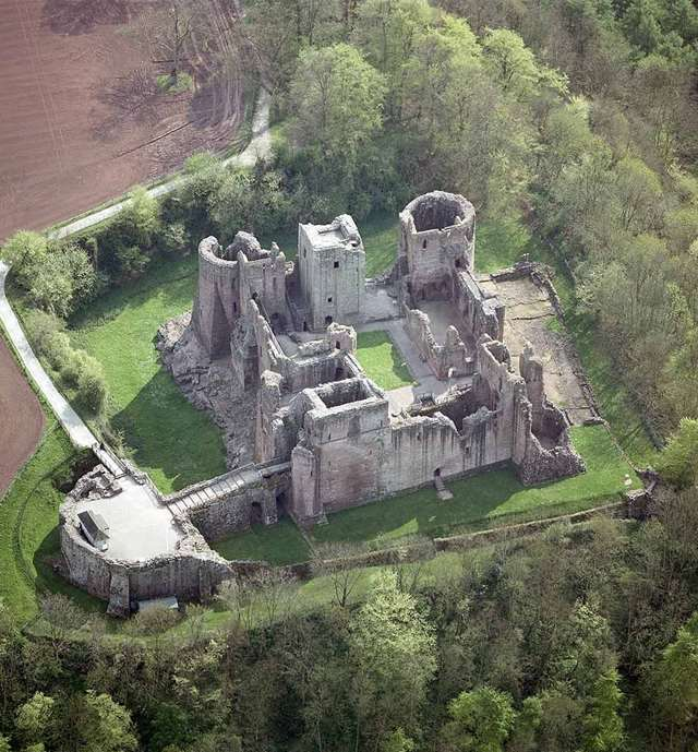 2ee09e992f Goodrich Castle seen from the air
