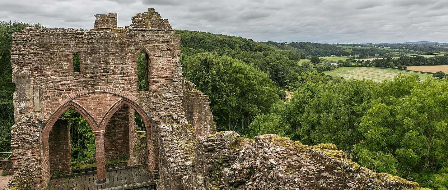 The solar block at Goodrich Castle, Herefordshire