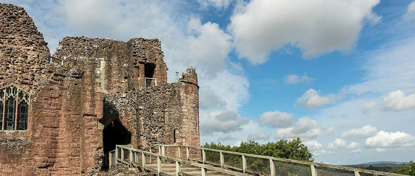The gatehouse of Goodrich Castle, Herefordshire