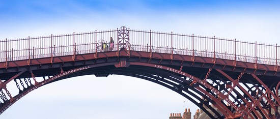 The newly repainted Iron Bridge