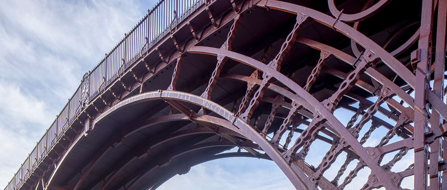 Looking up at the Iron Bridge