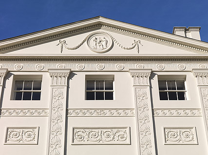The restored south front of Kenwood House
