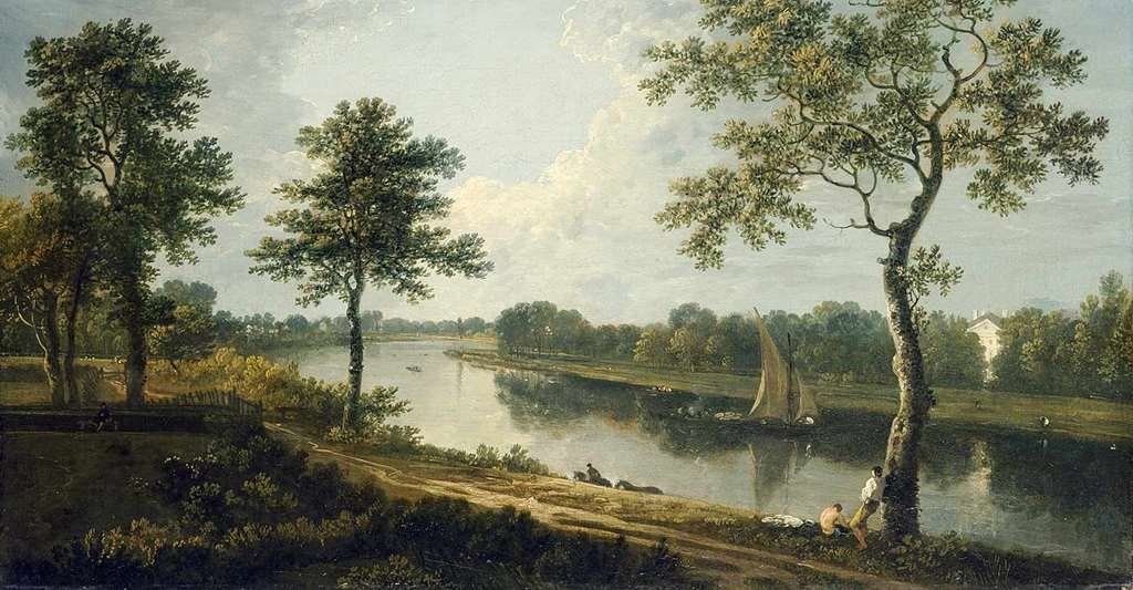 The Thames near Marble Hill, by Richard Wilson, c.1762