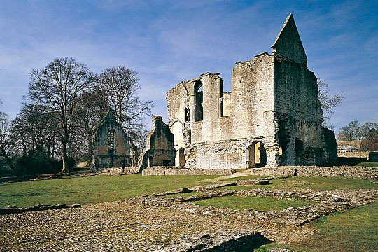 Minster Lovell Hall from the south-west