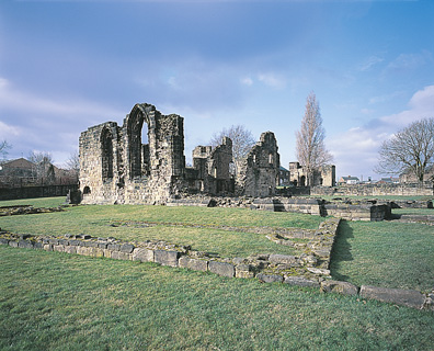 The remains of monk Bretton Priory, near Barnsley