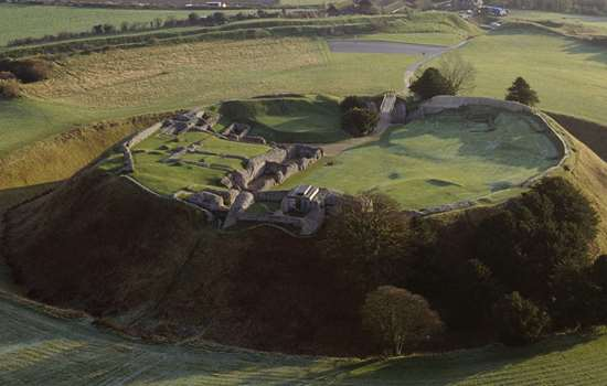 Aerial view of Old Sarum