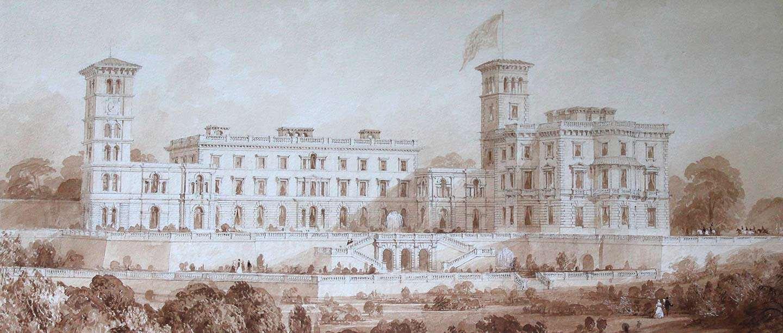 Drawing of Osborne by Thomas Allom, c. 1850–60