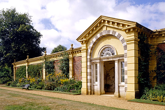 The front proch of the demolished old Osborne House, reused as the entrance to the walled garden