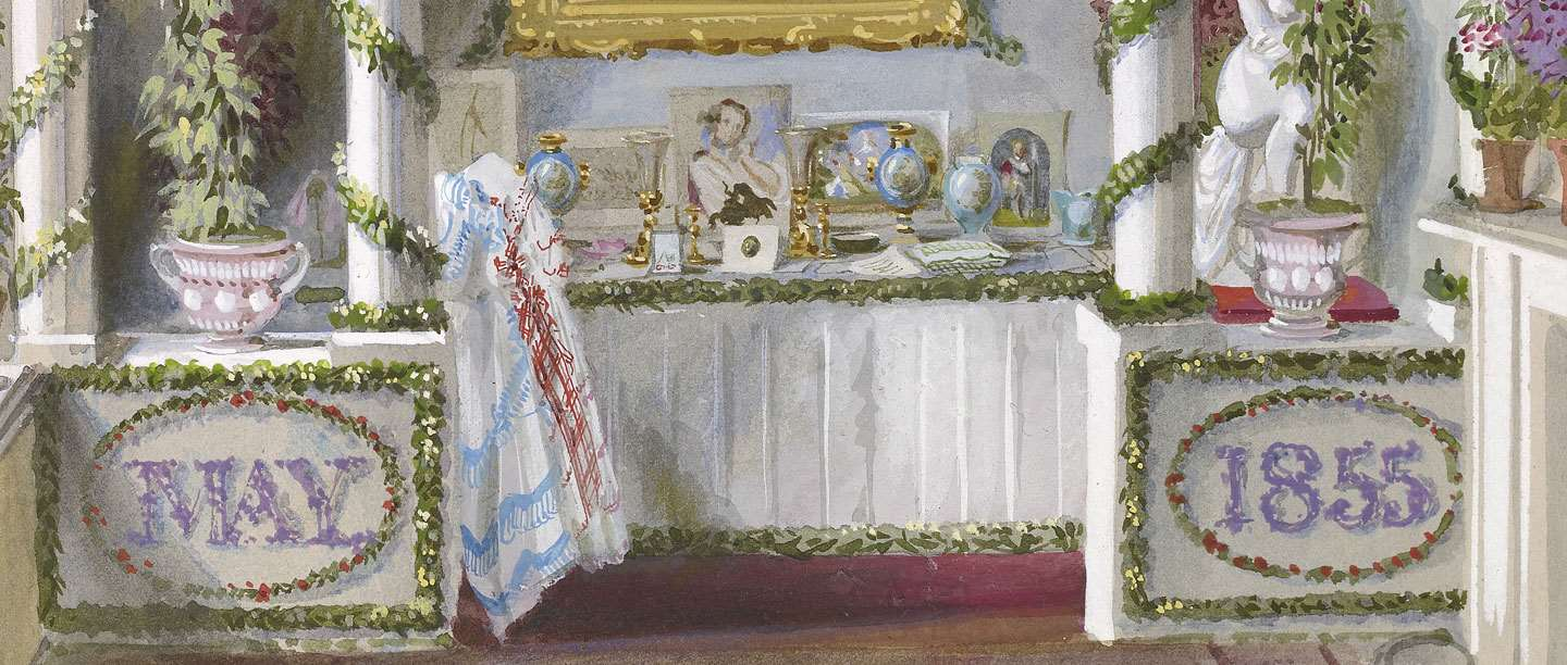 Queen Victoria's Birthday Table at Osborne in 1855.