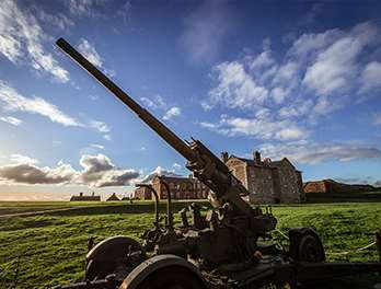 Historic gun at Pendennis Castle