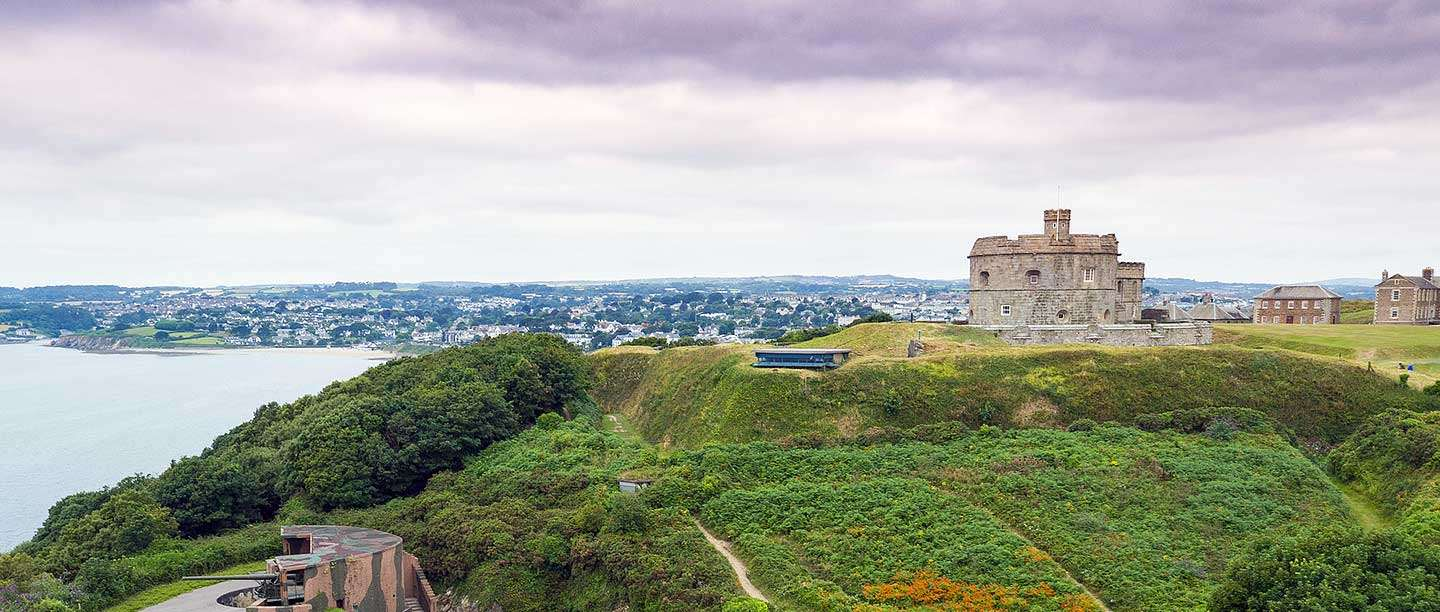 Pendennis Castle and the Fal estuary, Cornwall