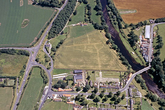 Aerial view of Piercebridge