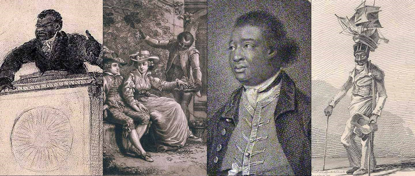 A selection of black people in Britain featured in 18th- and 19th-century engravings