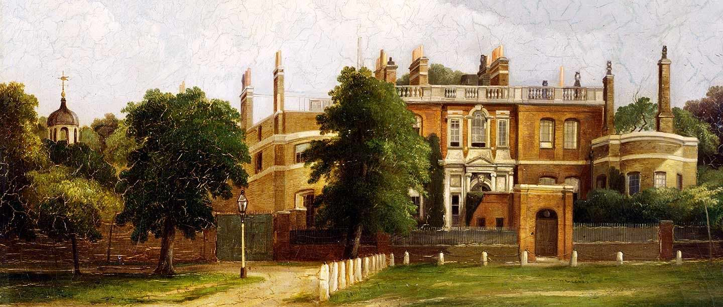 Ranger's House, painted in 1884 by Anthony de Bree (© Historic England, courtesy Museum of London)