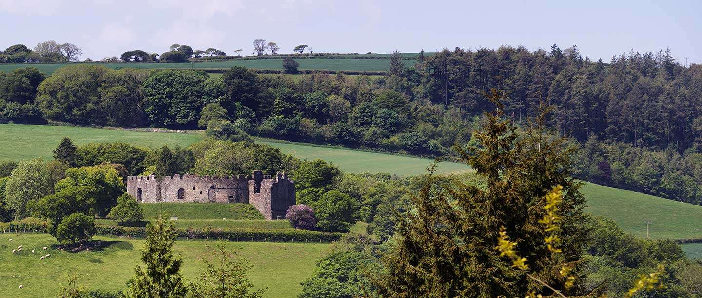 Restormel Castle seen from the south-east