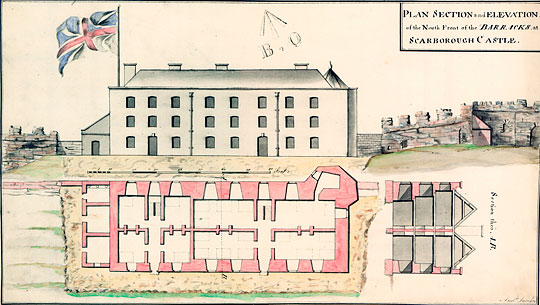 One of the plans of the new barracks built in 1746 at Scarborough Castle