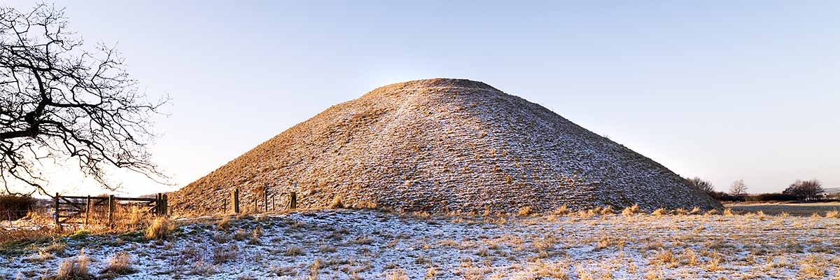 Silbury Hill under snow