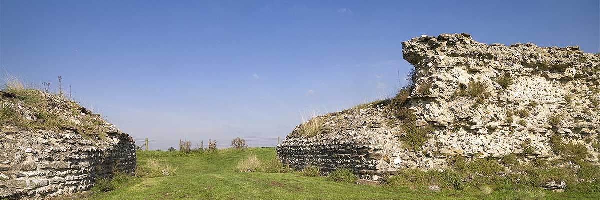 The south gate at Silchester Roman City