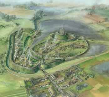 Reconstruction of Skipsea Castle in 1160