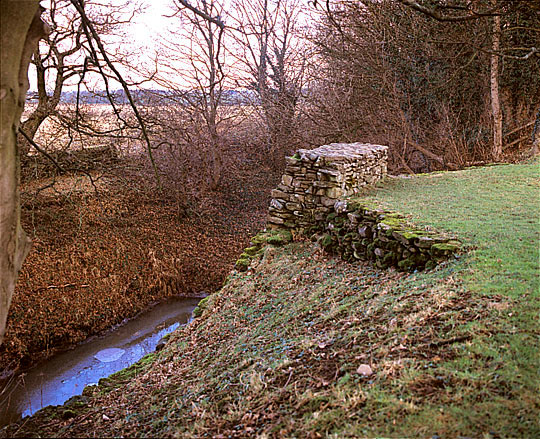 Ramparts at Stanwick, reinforced with a wall, enclosed an area nearly four miles long