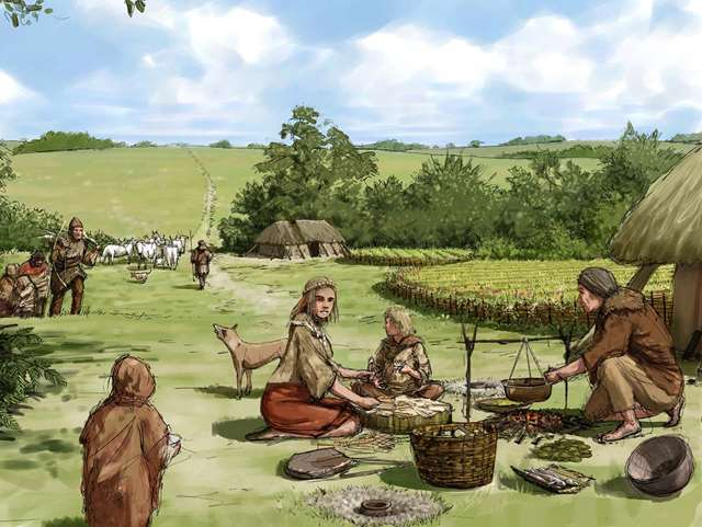 how were resources used differently in the neolithic era