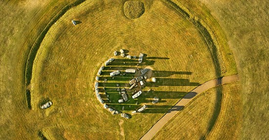 Overhead view of Stonehenge