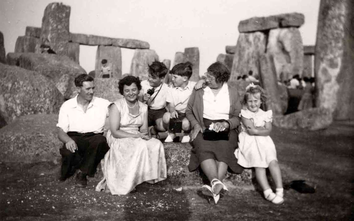 Lesley Tweed's family, c. 1955