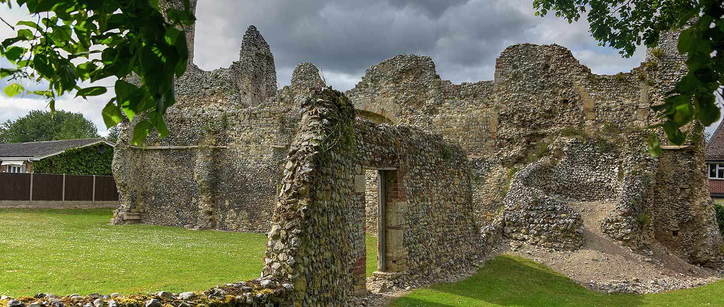 The ruins of the Holy Sepulchre Priory in Thetford, Norfolk