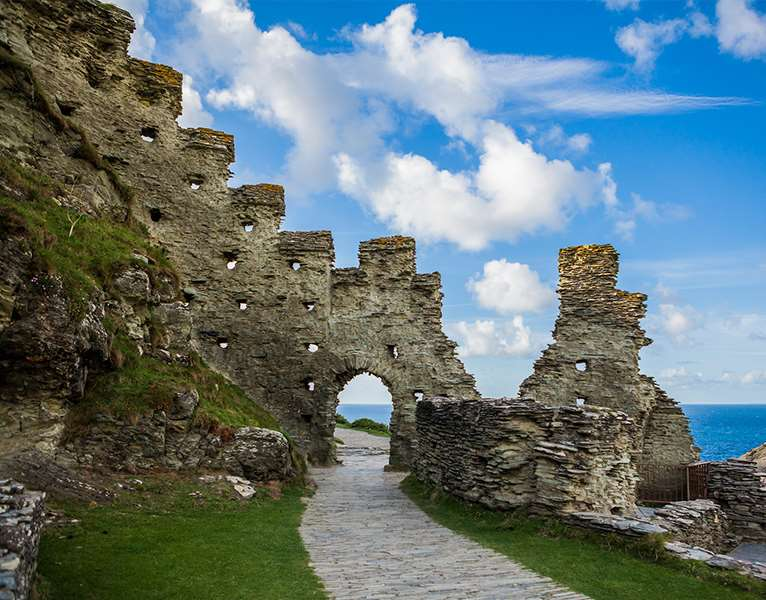 A doorway at Tintagel Castle