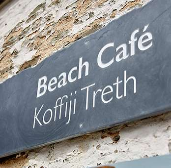 Sign for the Beach Cafe