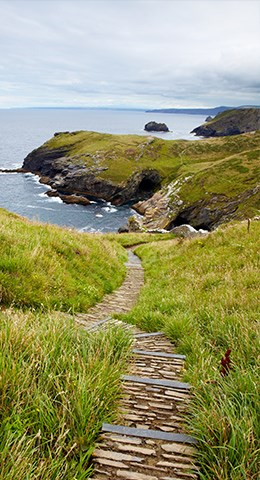 Pathway on the island