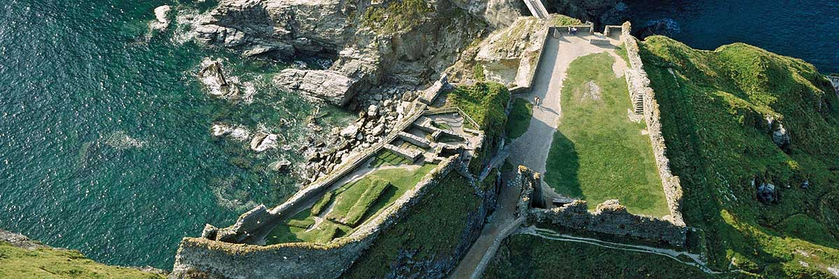 The mainland courtyards at Tintagel Castle