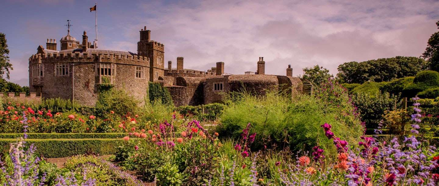 The Kitchen Garden at Walmer Castle and gardens, in full bloom.