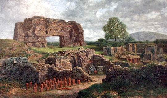 'The Ruins of Uriconium' at Wroxeter Roman City, by Thomas Prytharch