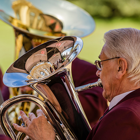 Brass bands at Brodsworth Hall and Gardens 07-07-2019 | English Heritage