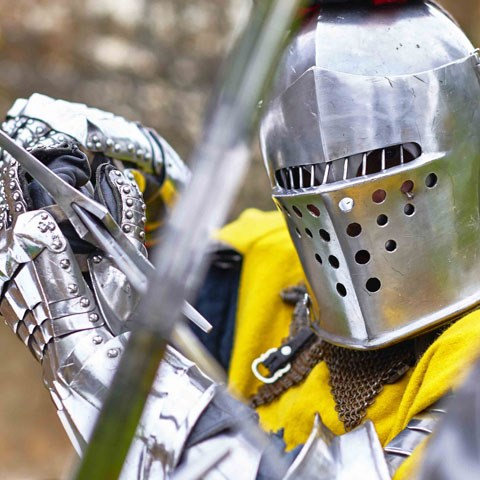 A knight competes in a tournament.