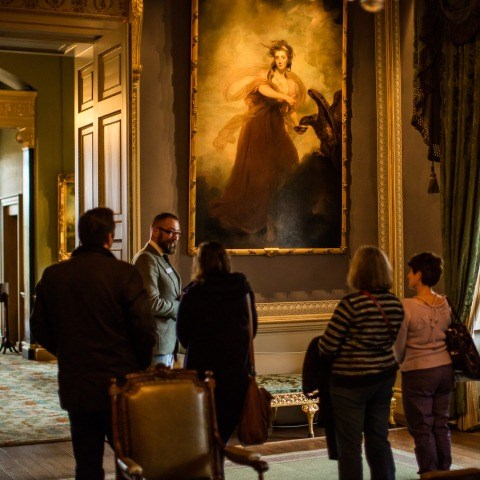 A group enjoying a tour of the Kenwood collection.