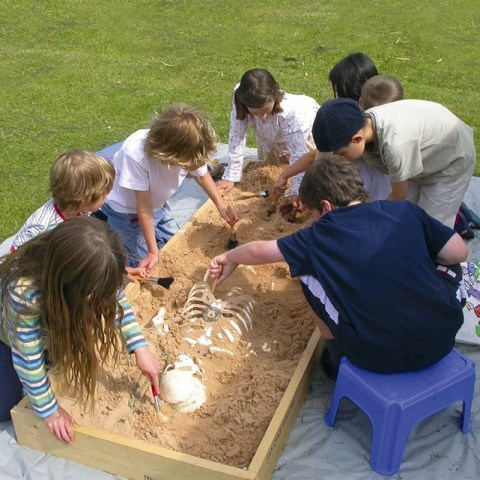 Children at the Saturday Archaeological Club at Wrest Park.