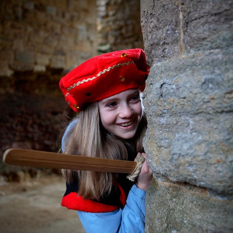 A child in historic costume