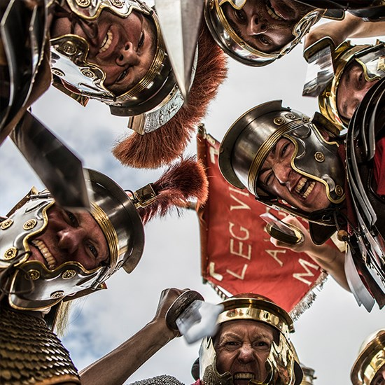 Roman soldiers in armour